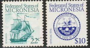 MICRONESIA 34, 39, DEFINITIVE ISSUE, 1984. MNH VF (131)