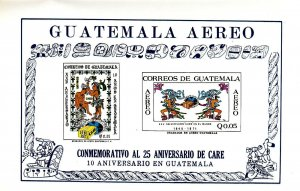 Stamp Guatemala Sc C459a Sheet 1971 Airmail US Canada Latin CARE Aero Relief MNH