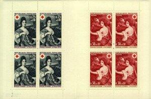 France 1968 Red cross Fund Booklet Featuring Nicolas Mignard sg1812/3 UM