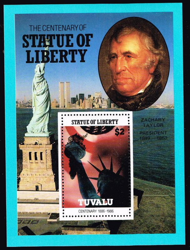 UK STAMP TUVALU 1986 CENTENARY STATU OF LIBERTY MNH S/S STAMP COLLECTION LOT #5