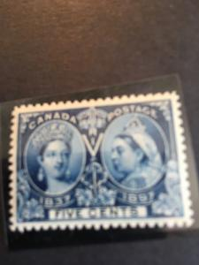 Canada USC #54 Mint VF-NH Cat. $300.00 - 5c Blue 1897 Jublee Stamp