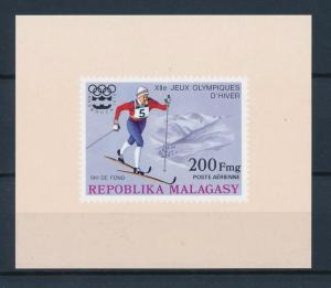 [55766] Madagascar 1975 Olympic games Cross country Skiing MNH Sheet