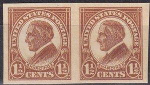 US #576 F-VF Unused  Pair  CV $2.75 (Z6126)