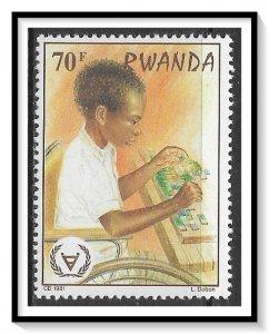 Rwanda #1065 Year Of Disabled MNH