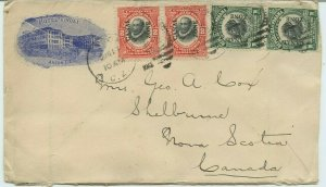 Panama Advertising Canal Zone to Shelburne NS Canada cover
