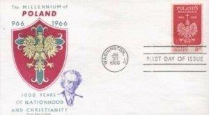 1313 5c POLAND MILLENIUM - Overseas Mailer