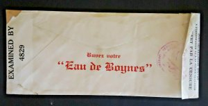 1942 Port-Au-Prince Haiti To New York NY Boynes Water Ad Censored Airmail Cover