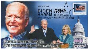 21-014, 2021, Presidential Inauguration, Event Cover, Pictorial Postmark, Biden