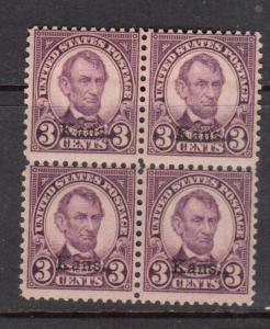 USA #661 NH Mint Block