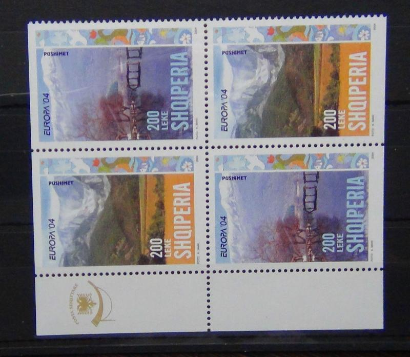 Albania 2004 Europa Holidays in block x 4 (2 sets) MNH