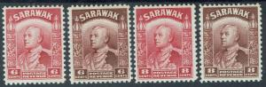 SARAWAK 1934 RAJA VYNER BROOKE 6C AND 8C BOTH COLOURS