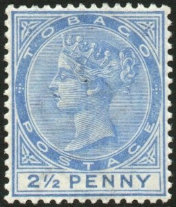 TOBAGO-1882-84 2½d Bright Blue Sg 16a MOUNTED MINT V48451