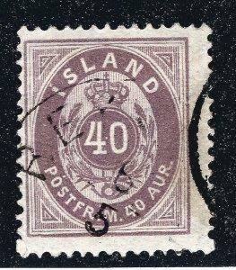 Iceland Attractive Sc#18 Used VF SCV $57.50...Key bargain!!