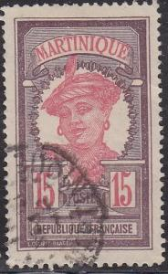 Martinique 70 Hinged Used 1917 Martinique Woman