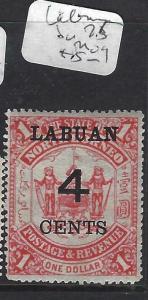 LABUAN (P1303B)  4C/$1.00  ARMS, LION SG 75   MOG