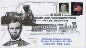 2015, President Lincoln Funeral Train Route, Pictorial, Brocton NY, 15-353