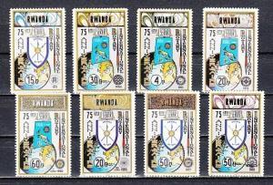 Rwanda, Scott cat. 958-965. Rotary International, 75th Anniversary issue.