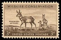 1078 Pronghorn Antelope F-VF MNH single