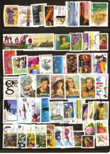 CANADA 50+ DIFFERENT COMMEMORATIVES STAMPS USED LOT#164