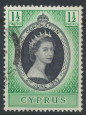 Cyprus  SG 172 SC# 167  Used  Coronation 1953  see detail and scan