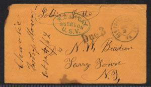 **Civil War Era Cover, Old Point Comfort, VA H/S Soldiers Letter 1862, Contents