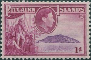Pitcairn Islands 1940 SG2 1d Christian crew and island MLH