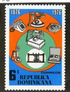 DOMINICAN REPUBLIC 768 MNH SCV $0.40 BIN $0.25 TELECOMMUNICATIONS