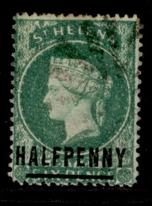 ST. HELENA SG34, ½d emerald, USED. Cat £25.