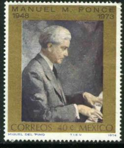 MEXICO 1059, Manuel M. Ponce, Composer MINT, NH. VF.