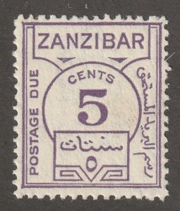 Zanzibar stamp, Scott#J18,  mint, hinged,  Postage due, #J18