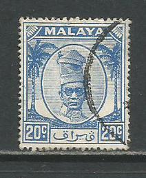 Malaya-Perak   #123  Used  (1952)  c.v. $0.30