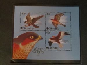 Gibraltar 2001 Sc 889c Bird set MNH