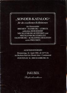 Jakubek:    Jakubek - Sonder-Katalog April 14, 1988, Ja...