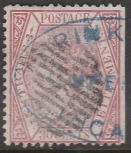 MALAYA Straits Settlements 1872 QV 30c Crown CC SG #17 used MA1053