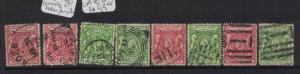 British East Africa 1896 Lot of 8 Cancels, Aden, Zanzibar, GB VFU (5dtc)