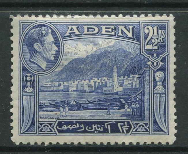 ADEN - Scott 21 - KGVI Definitive Issue - 1938 - MLH - Single 2.1/2a Stamps