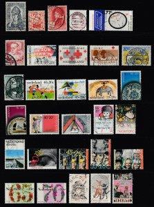 NETHERLANDS - 29 Different Commemoratives & Semi Postals - SCV $16.65