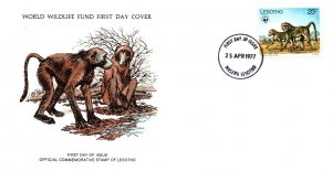 Lesotho, Worldwide First Day Cover, Animals