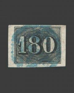 VINTAGE: BRAZIL 1850 USD BH SCOTT # 26 $ 65 LOT # BRA1850B8