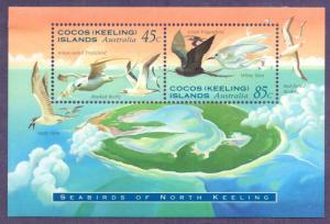 COCOS ISLAND 301a MH S/S SCV $3.00 BIN $1.40 BIRDS