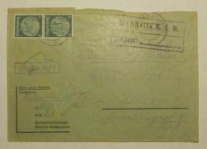 1939 Germany Buchenwald Concentration Camp Cover Wolf Halm to Vienna KZ Pre war