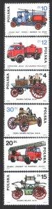 Poland. 1985. 2961-66. Fire trucks. MNH.