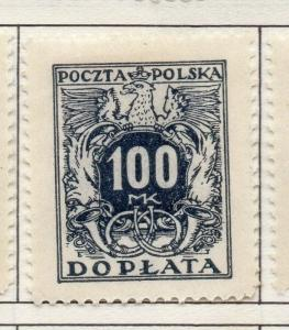 Poland 1921-1923 Early Issue Fine Mint Hinged 100m. 190790