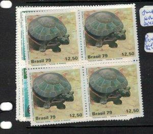 Brazil Turtle SC 1613-5 Block of 4 MNH (3etg)