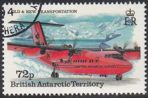 British Antarctic Territory 1994 used Sc #223 72p DHC-6 Twin Otter taxiing