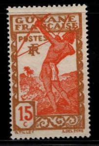 French Guiana Scott 115 MH* stamp expect similar centering