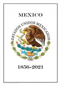 Mexico 1856-2021 PDF (DIGITAL)  STAMP ALBUM PAGES