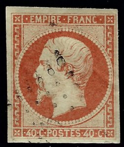 France Sc #18 Used F-VF w/creases SCV$12...French Stamps are Iconic!