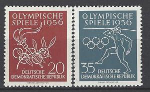 German Democratic Republic Scott # 307 - 308, mint nh
