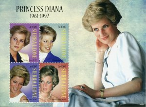 Sierra Leone Royalty Stamps 2010 MNH Princess Diana Famous People 4v M/S